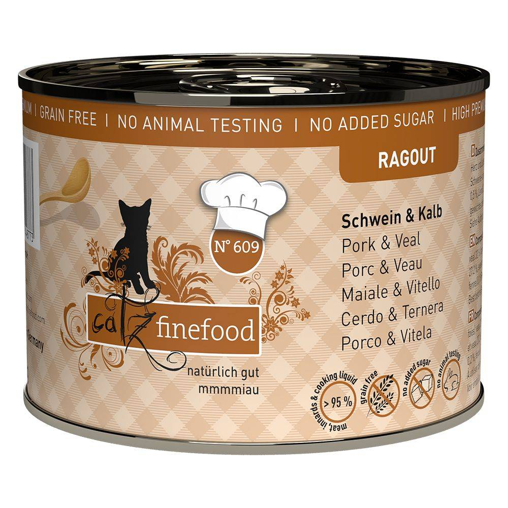 catz finefood 6x180g Ragoût No. 605 saumon, canard sauvage catz finefood - Pâtée pour chat