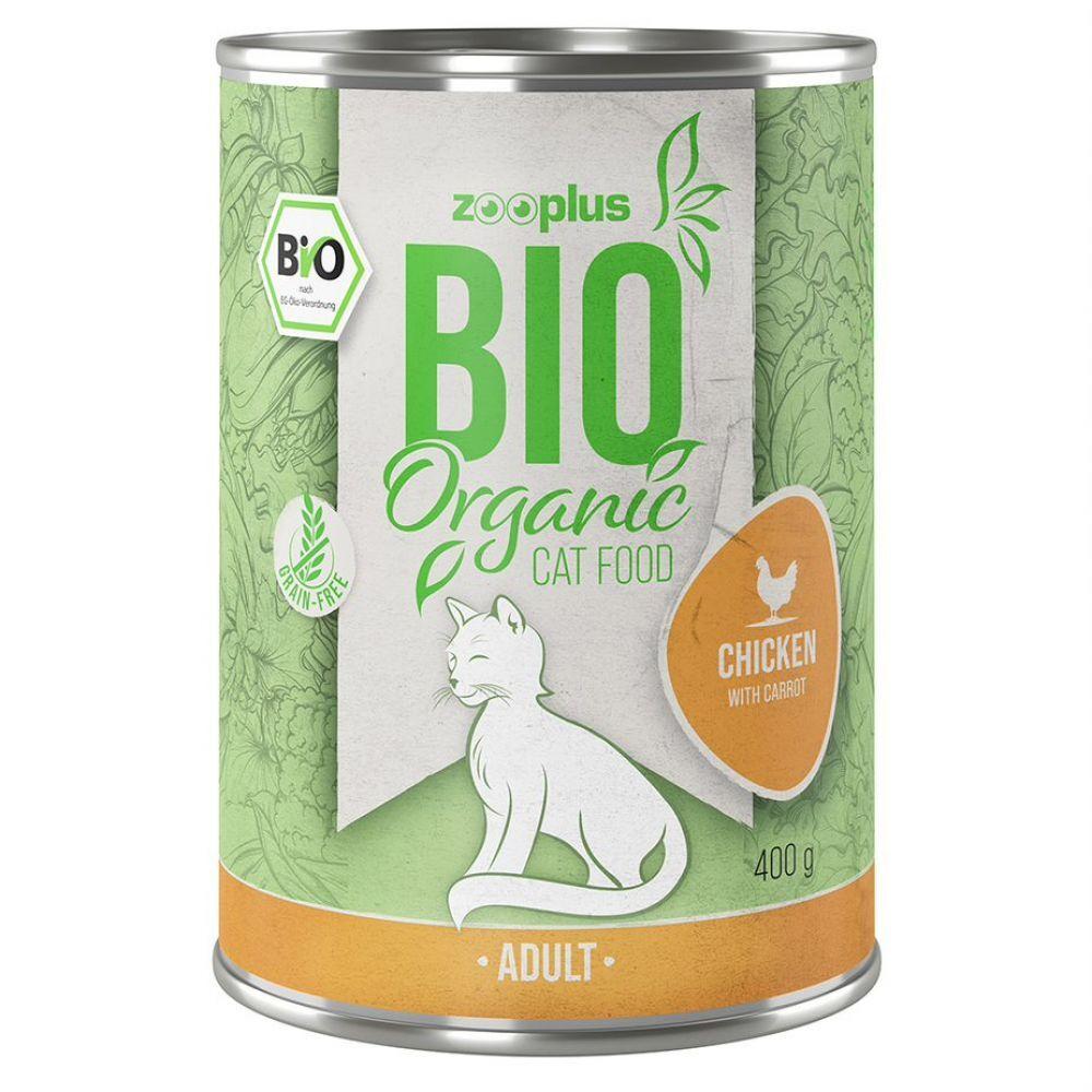 zooplus Bio 6x85g zooplus bio poulet, carottes - Sachet pour chat