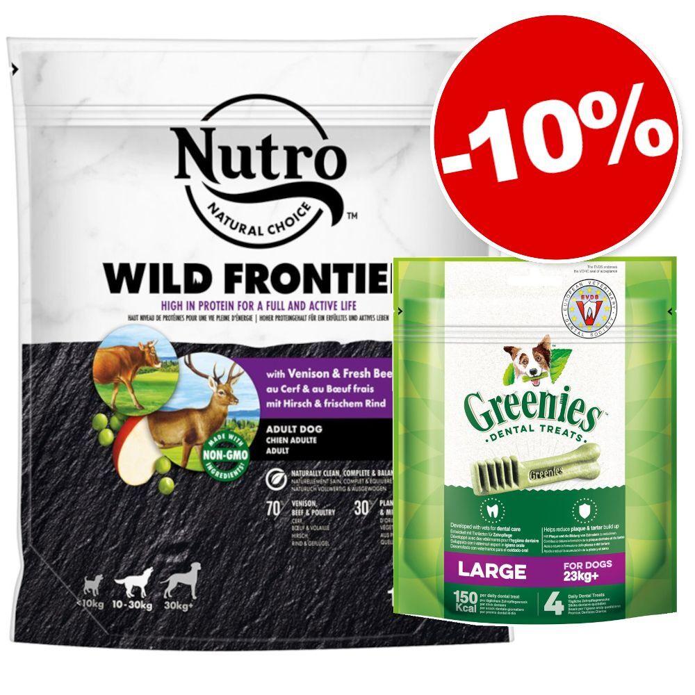 Nutro Croquettes Nutro 1,4 kg + friandises Greenies Large 170 g : 10 % de remise ! - Puppy 10-30 kg agneau, riz