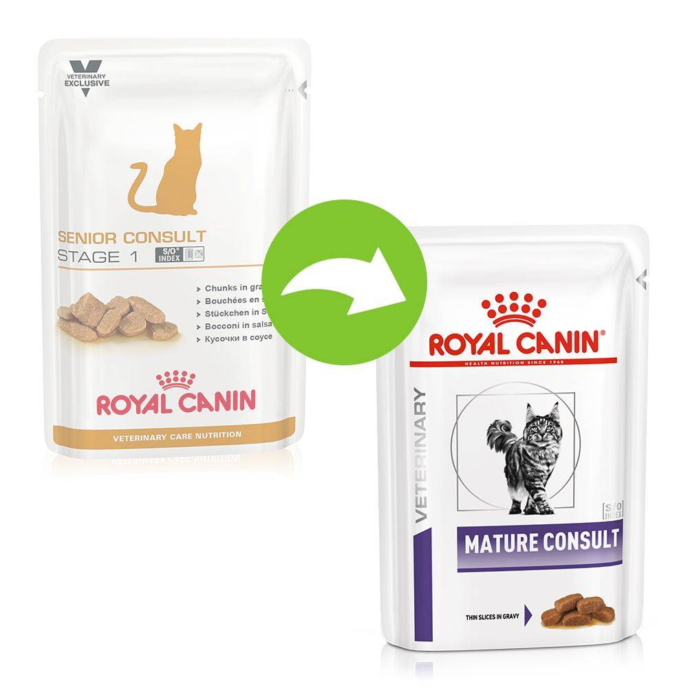Royal Canin Veterinary Diet Royal Canin Veterinary Mature Consult pour chat - 12 x 85 g