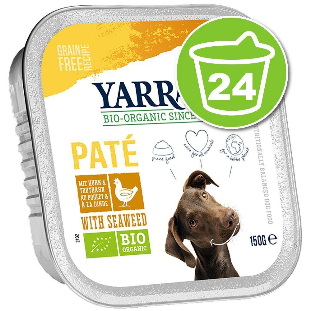 Yarrah 24x150g Pâté, bœuf, spiruline sans céréales Yarrah Bio - Nourriture pour chien