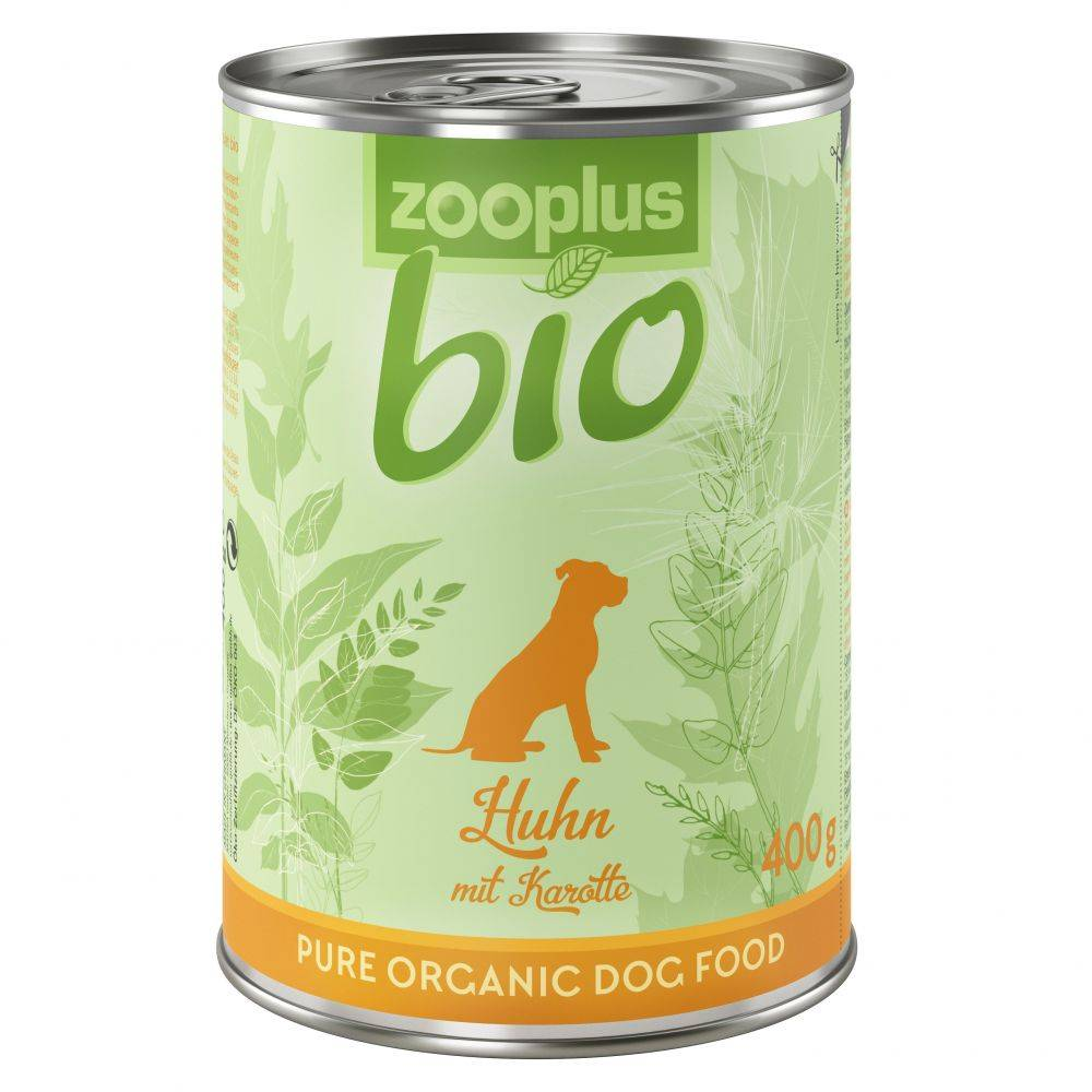 zooplus Bio 6x400g poulet, carottes zooplus bio - Nourriture pour chien