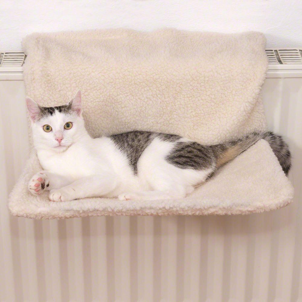 zooplus Exclusive Hamac de radiateur pour chat Relax - Couleur écru