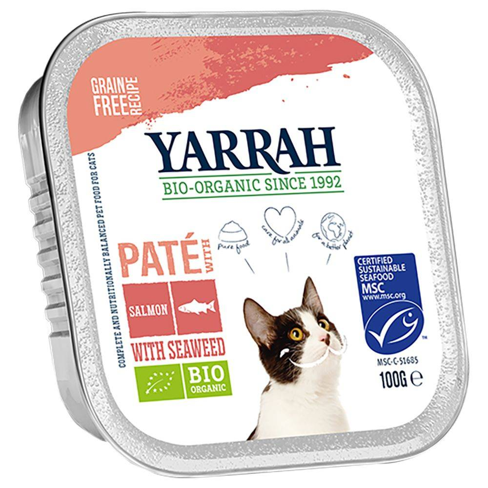 Yarrah 6x100g Yarrah Bio Pâté saumon, algues - Pâtée pour chat