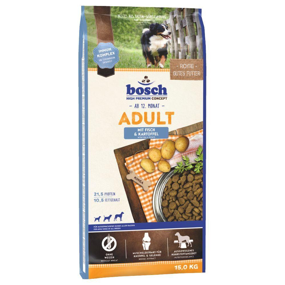 Bosch High Premium concept 15kg bosch Adult poisson, pommes de terre - Croquettes pour chien