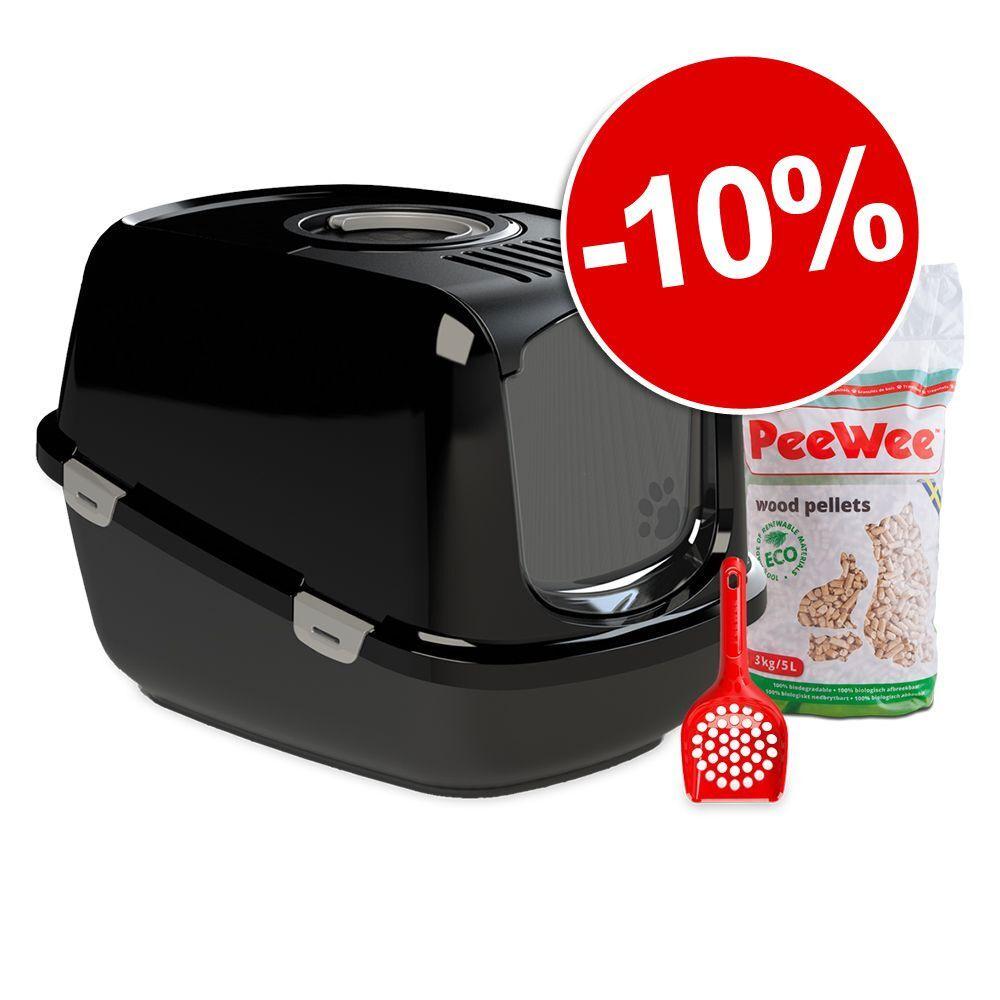 PeeWee EcoHûs, noir/anthracite Maison de toilette PeeWee EcoHȗs pour chat
