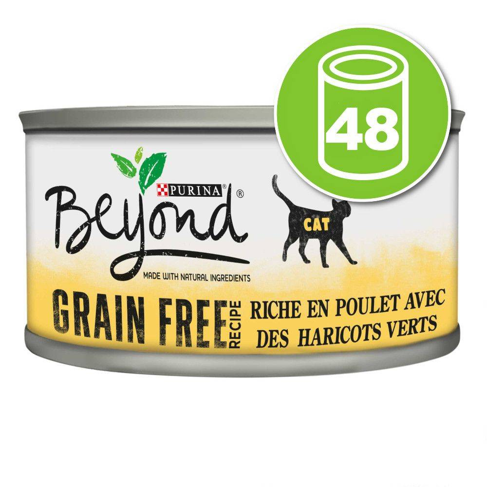 BEYOND 48x85g Mousse poulet Sans céréales Beyond pour chat