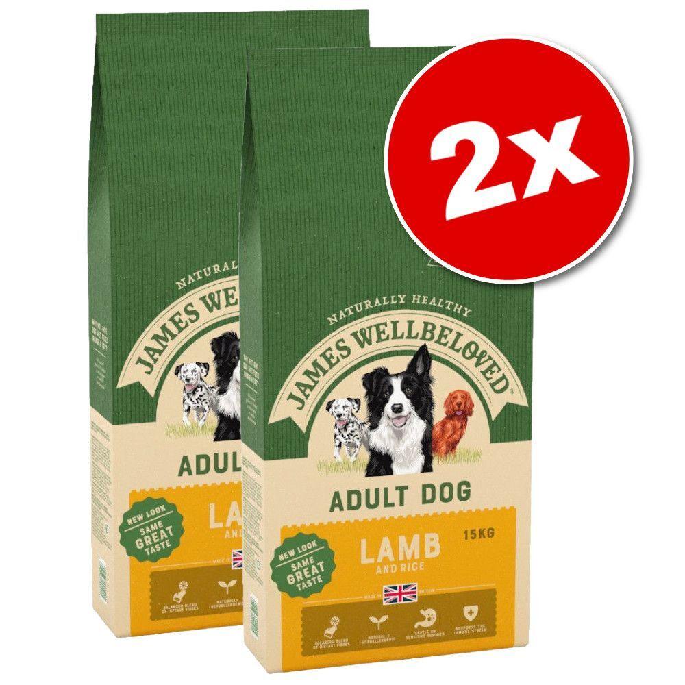 James Wellbeloved 2x15kg James Wellbeloved Adult canard, riz - Croquettes pour chien