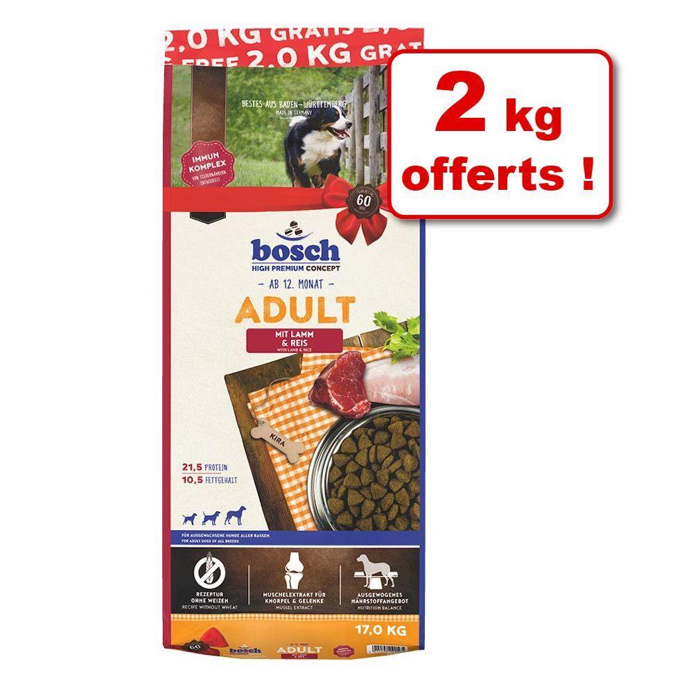 Bosch High Premium concept Croquettes bosch Adult agneau, riz 15 kg + 2 kg offerts ! - 15 kg + 2 kg offerts !