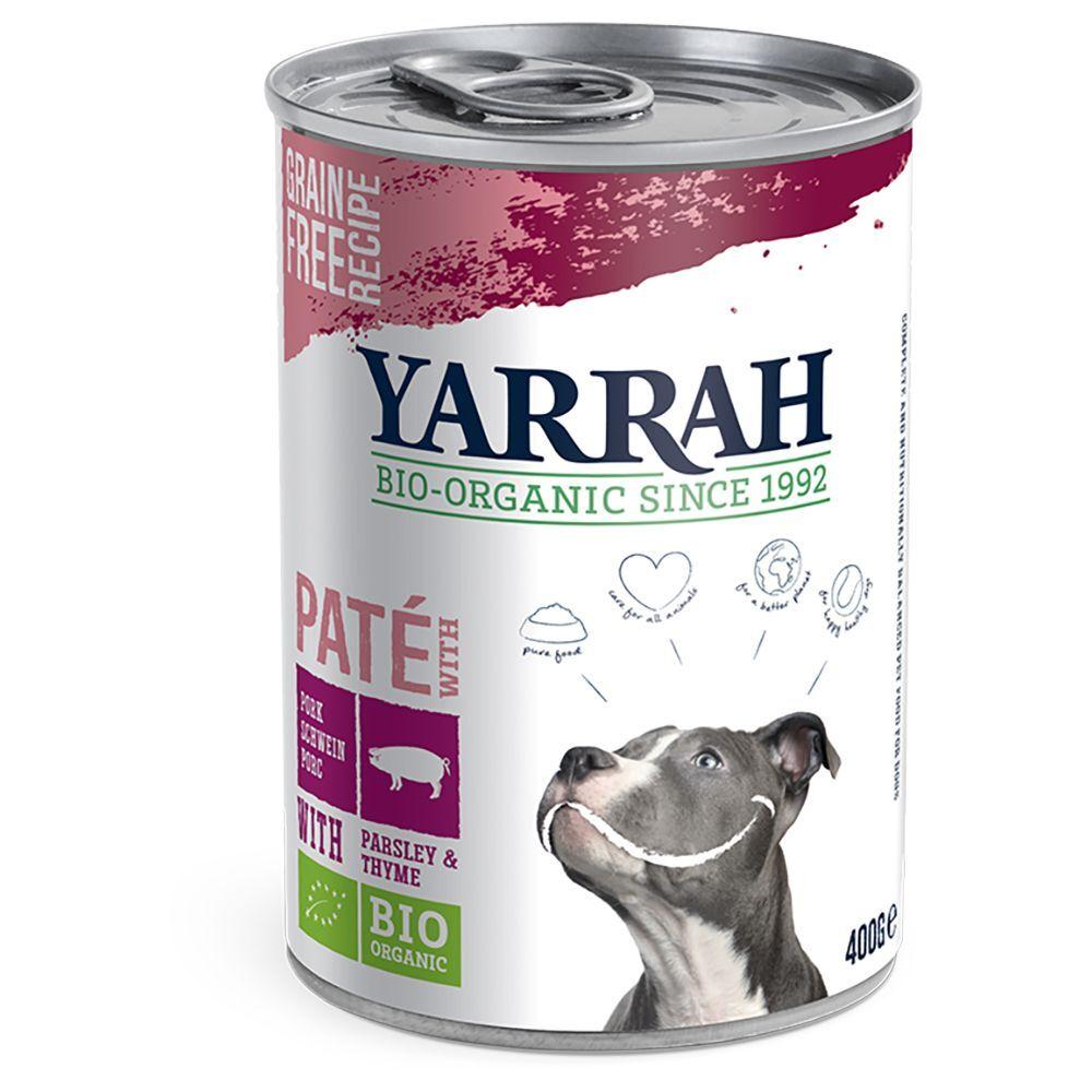 Yarrah 6x400g Yarrah Bio Paté porc - Pâtée pour chien