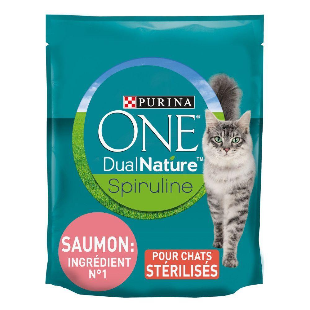 Purina One 1,4kg Dual Nature Chat Stérilisé saumon, spiruline Purina ONE - Croquettes pour chat