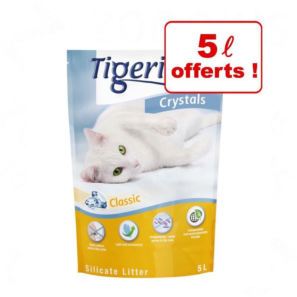 Tigerino Crystals 5 x 5 L + 5 L offerts ! - lot mixte (Classic, Flower power, Lavender & Aloe vera) 6 x 5 L