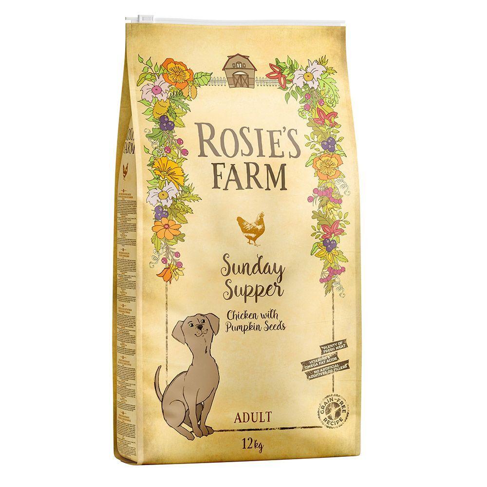 Rosie's Farm poulet, patates douces, graines de courge pour chien - 2 x 12 kg
