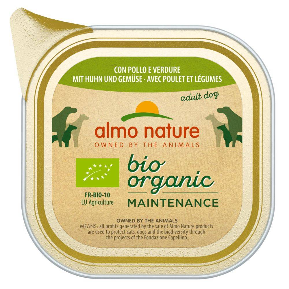 Almo Nature Daily Menu 6x100g veau, légumes Almo Nature Daily Menu Bio - Nourriture pour chien