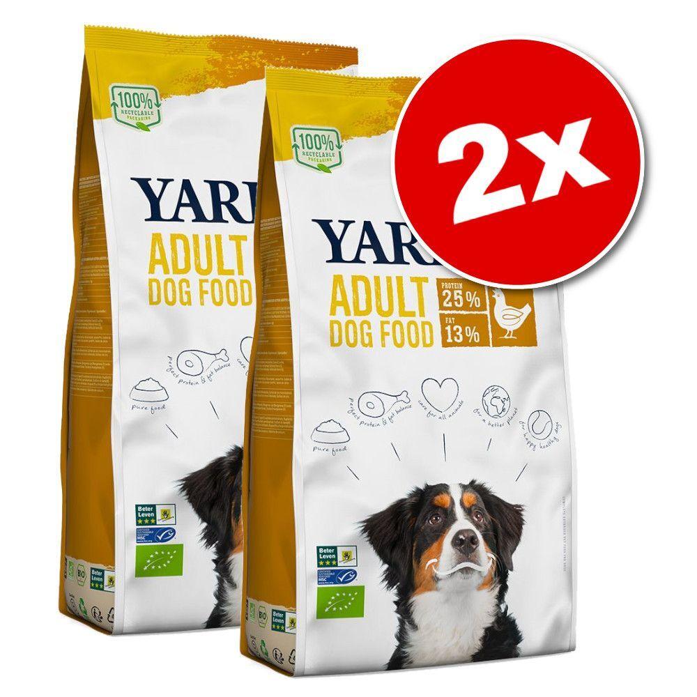 Yarrah Lot Yarrah Bio pour chien - sans céréales, poulet bio (2 x 10 kg)