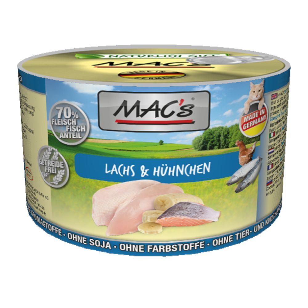 MAC's 6x200g saumon / poulet MAC's - Nourriture pour Chat