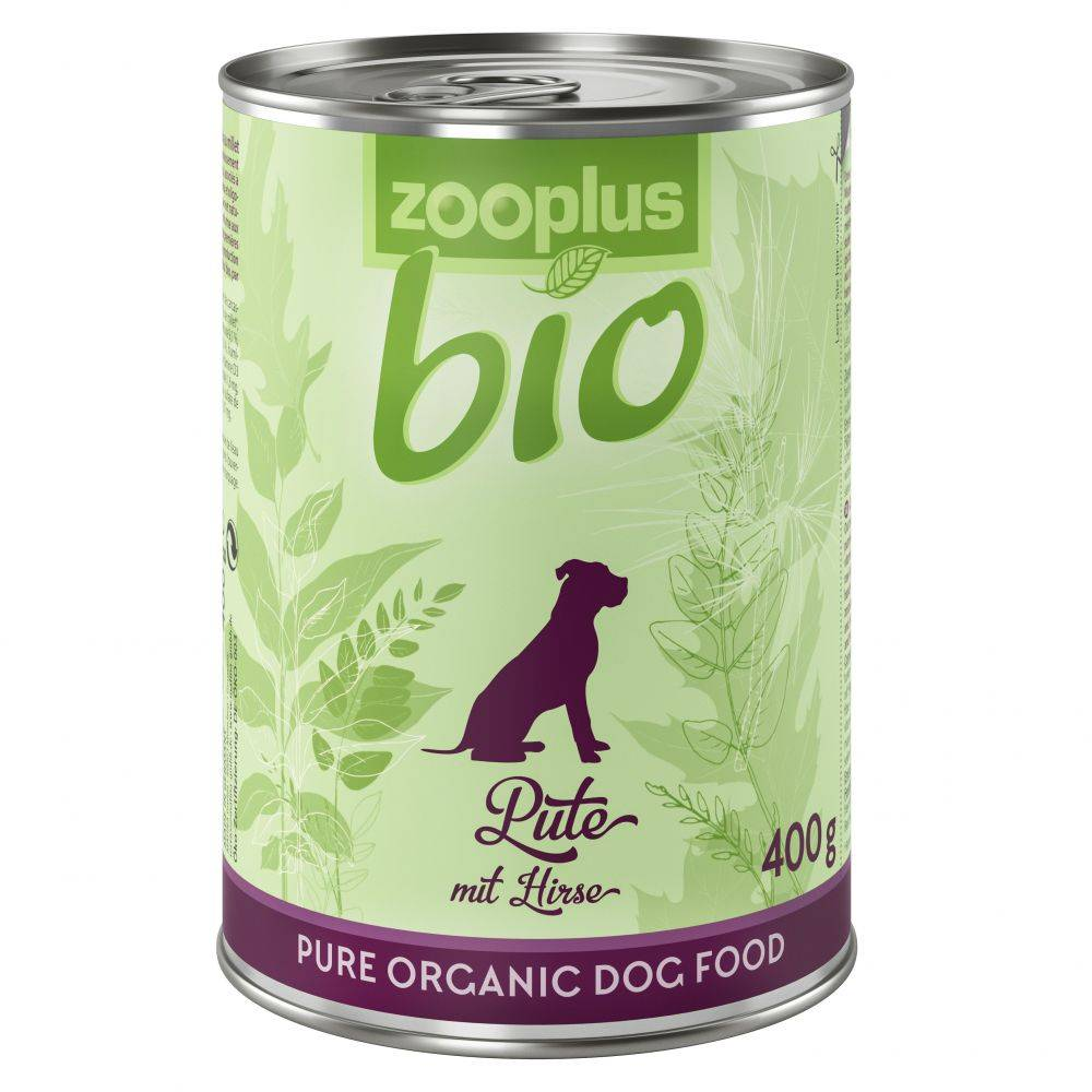 zooplus Bio 6x400g dinde, millet zooplus bio - Nourriture pour chien