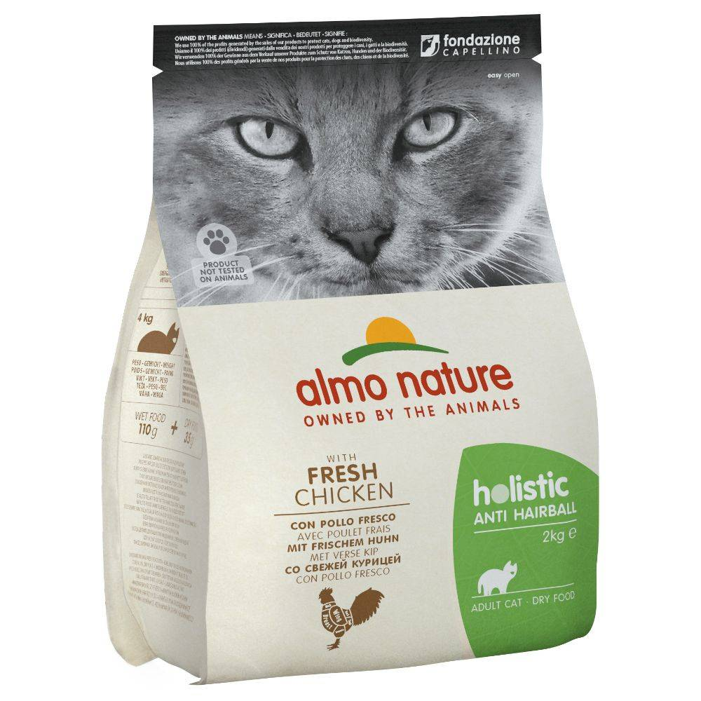 Almo Nature Holistic 2kg Anti Hairball poulet/riz Almo Nature Holistic - Croquettes pour Chat