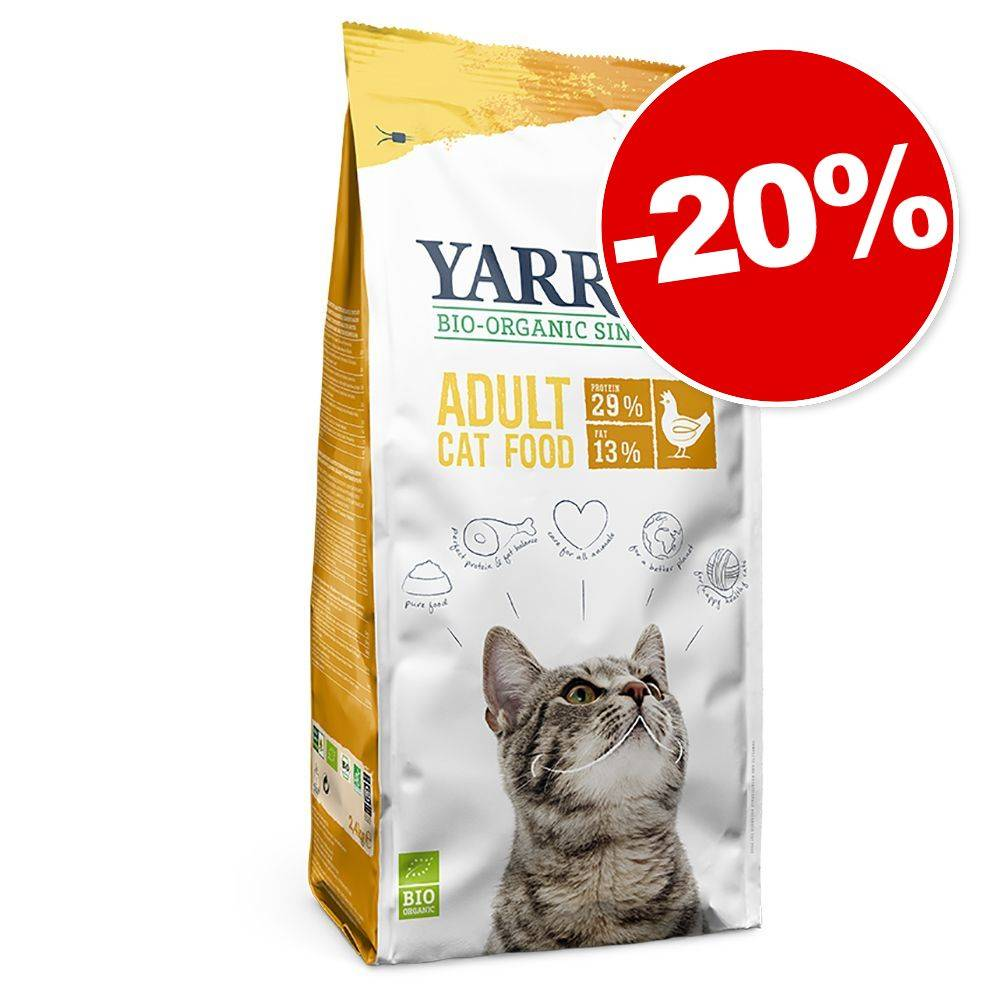 Yarrah 10kg poulet, poisson sans céréales Yarrah bio croquettes pour chat