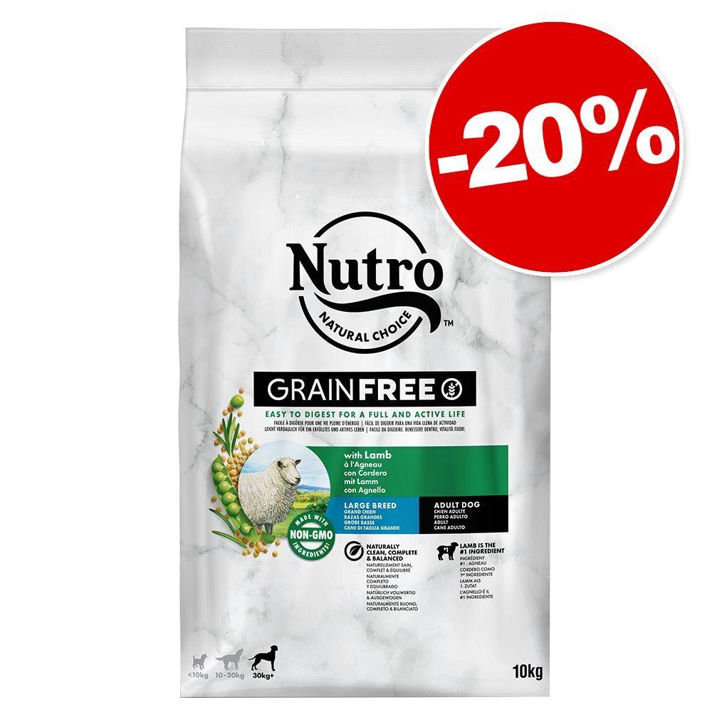 Nutro 10kg Adult 30 kg+ agneau, riz Nutro croquettes pour chien : 20 % de remise !