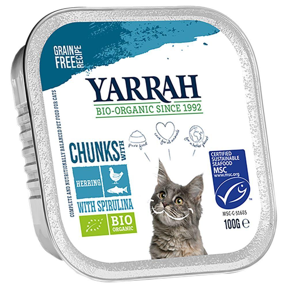 Yarrah 6x100g poisson, spiruline Bouchées en sauce Bio Yarrah - Nourriture pour Chat