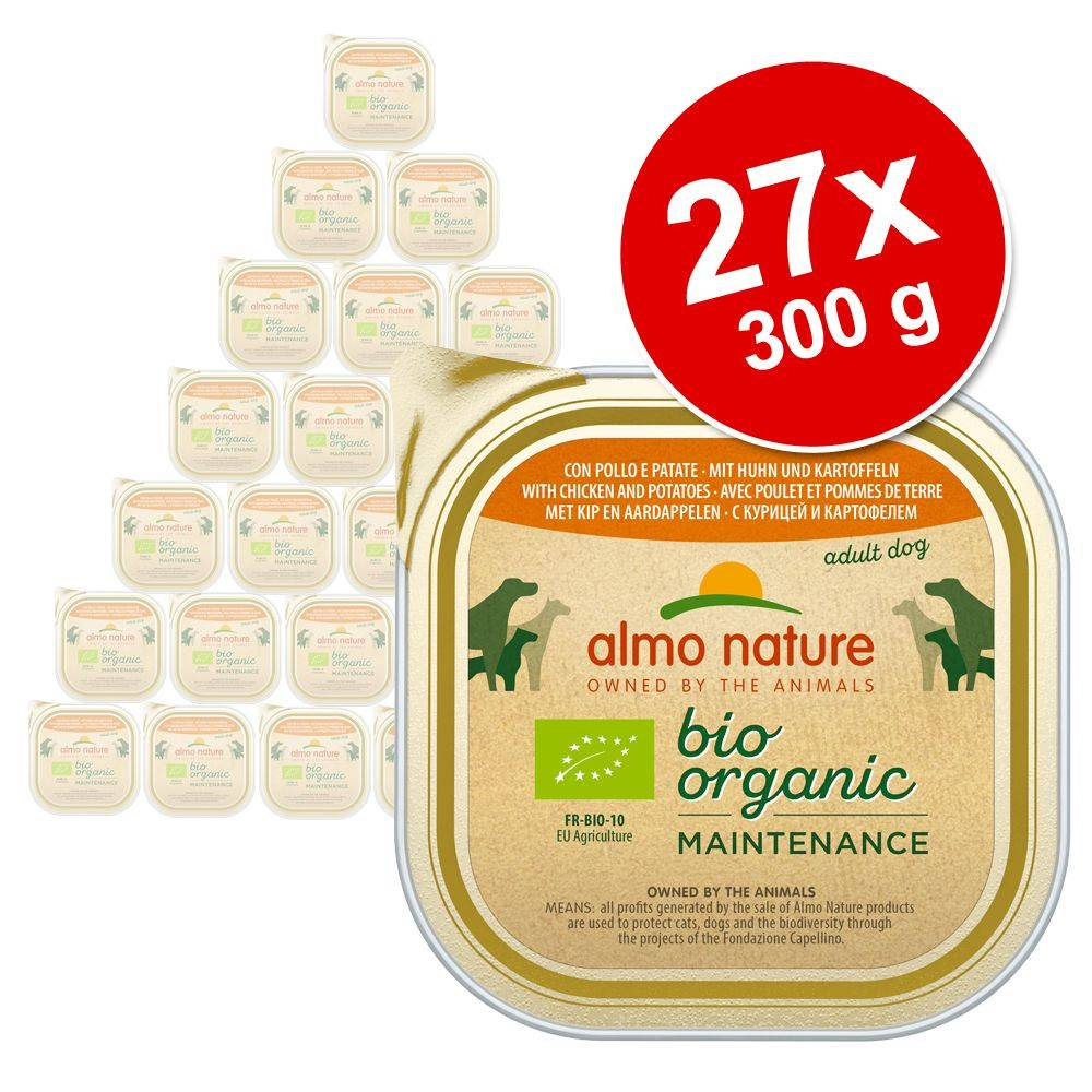 Almo Nature Daily Menu 27x300g Almo Nature Bio Paté bœuf & légumes - Pâtée pour chien