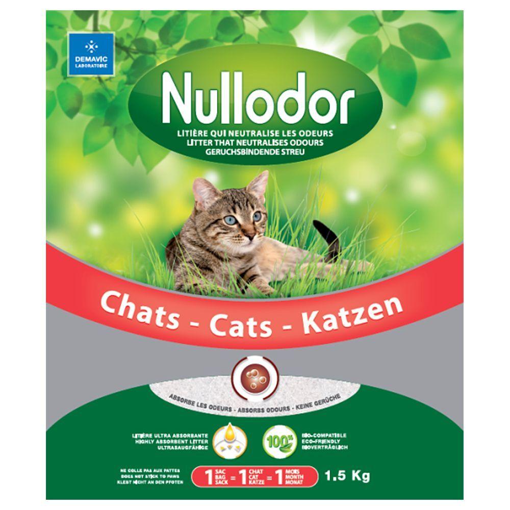 Nullodor 1,5kg (3L) Litière de silice Nullodor pour chat