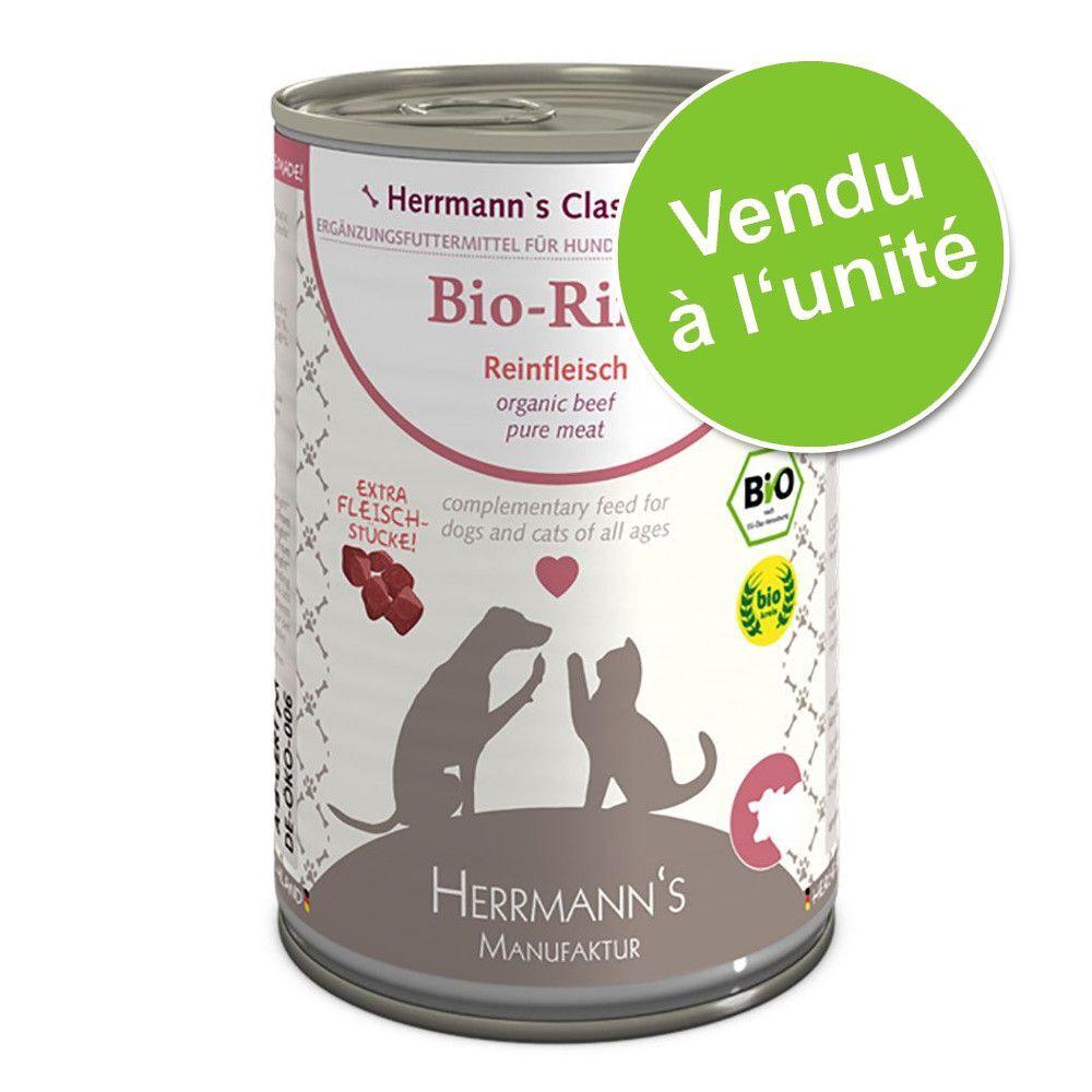 Herrmanns 1x400g pur bœuf bio Herrmann's - Nourriture pour chien