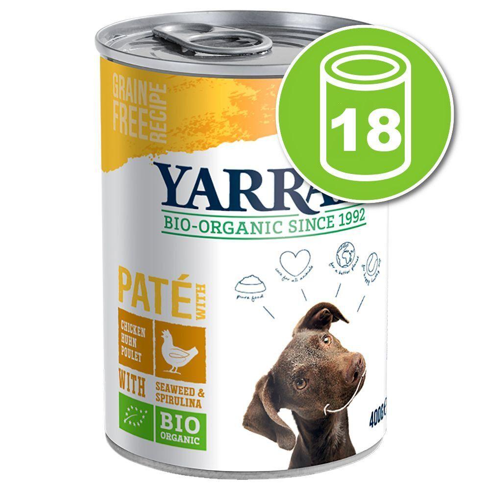 Yarrah 18x400g Yarrah Bio Paté porc - Pâtée pour chien