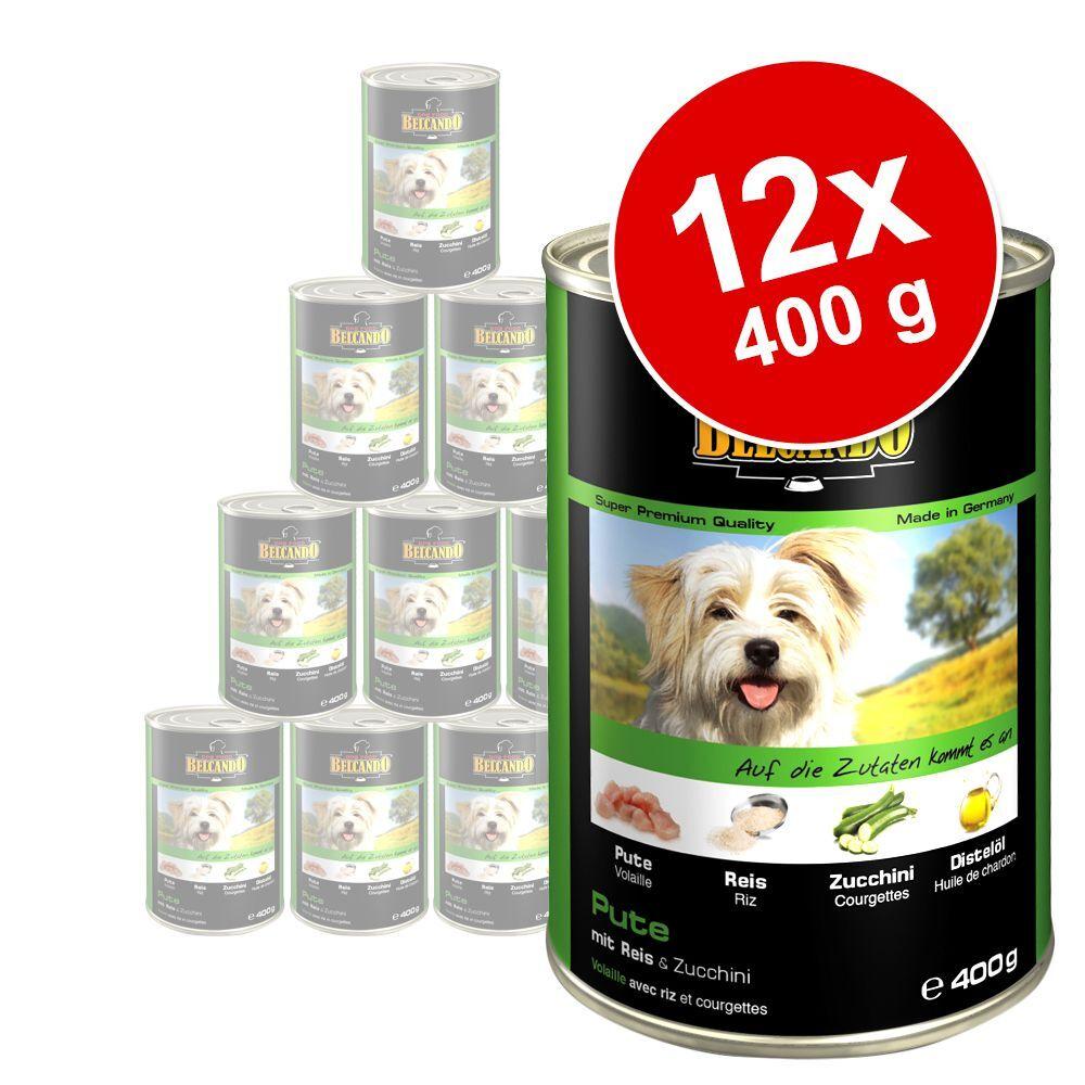 Belcando 12x400g poulet, canard, millet, carottes Super Premium Belcando - Nourriture pour chien