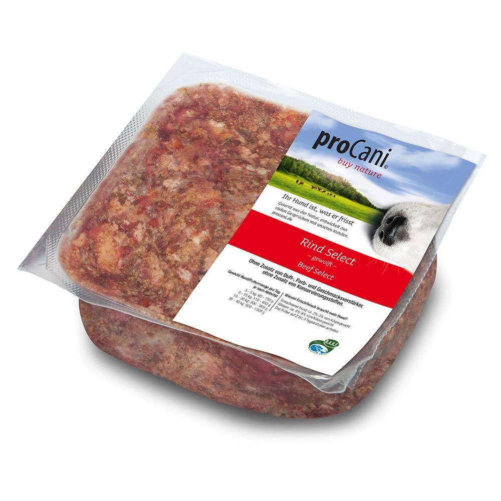 proCani 8x1000g Mélange BARF Bœuf Select + 10% de fruits & légumes proCani