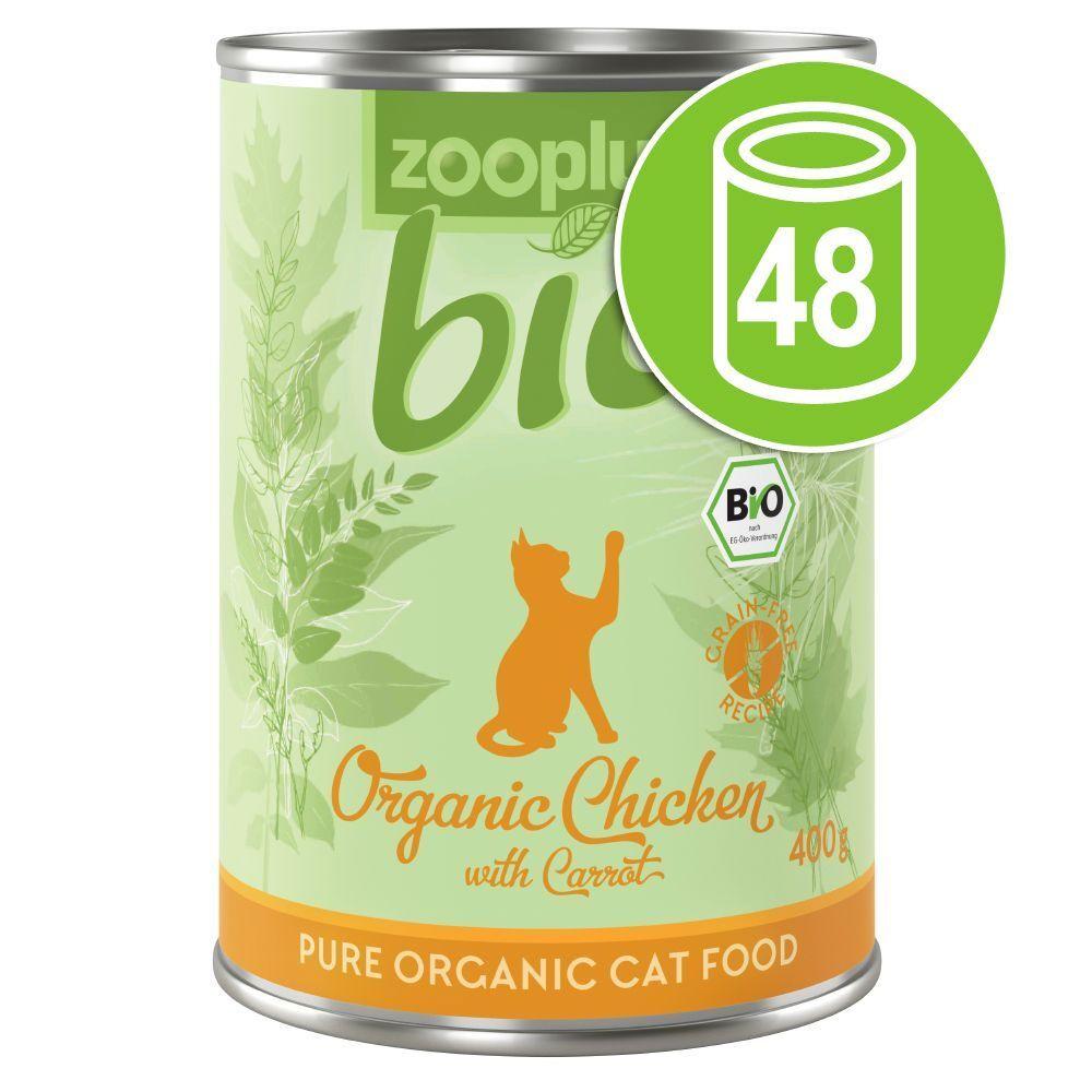 zooplus Bio 48x400g zooplus Bio poulet, carotte - Pâtée pour chat