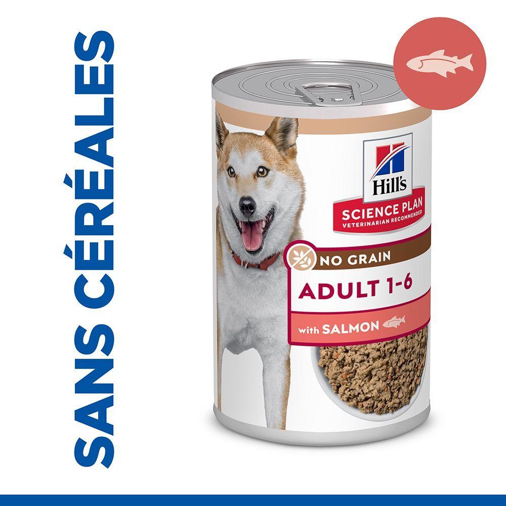 Hill's Science Plan Adult No Grain saumon pour chien - 24 x 363 g
