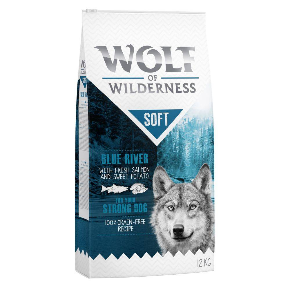 Wolf of Wilderness 2x12kg Wolf of Wilderness Soft Blue River, saumon - Croquettes pour chien