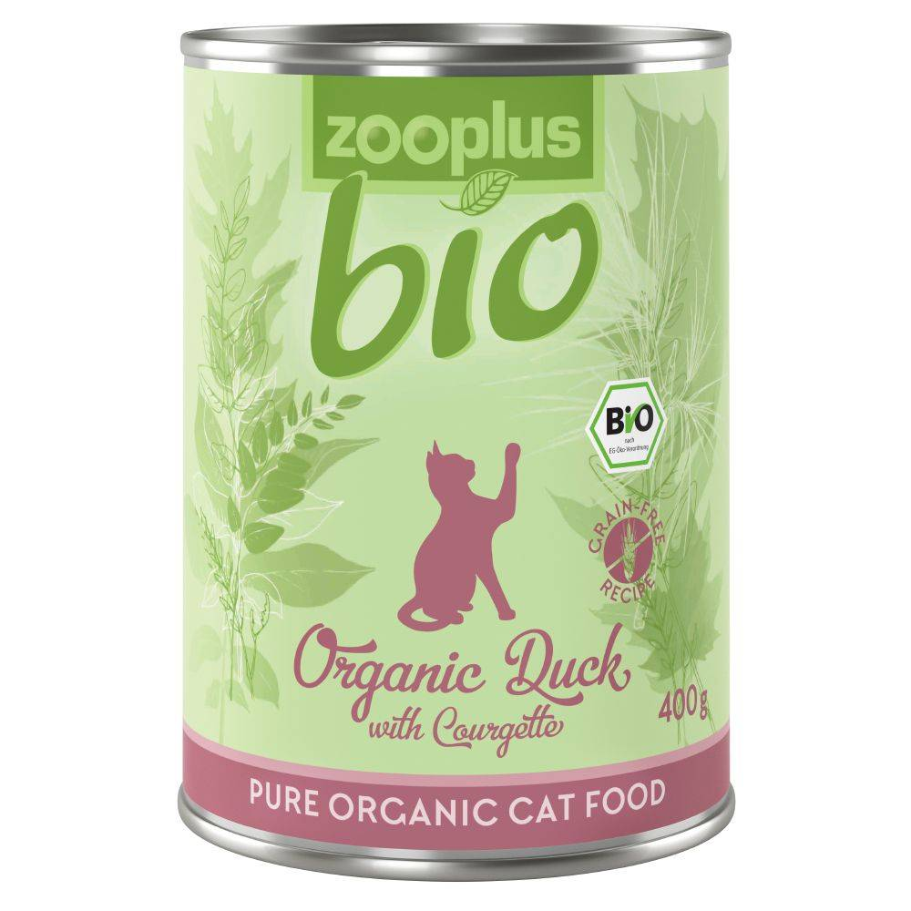 zooplus Bio 6x400g zooplus bio canard, courgettes - Pâtée pour chat