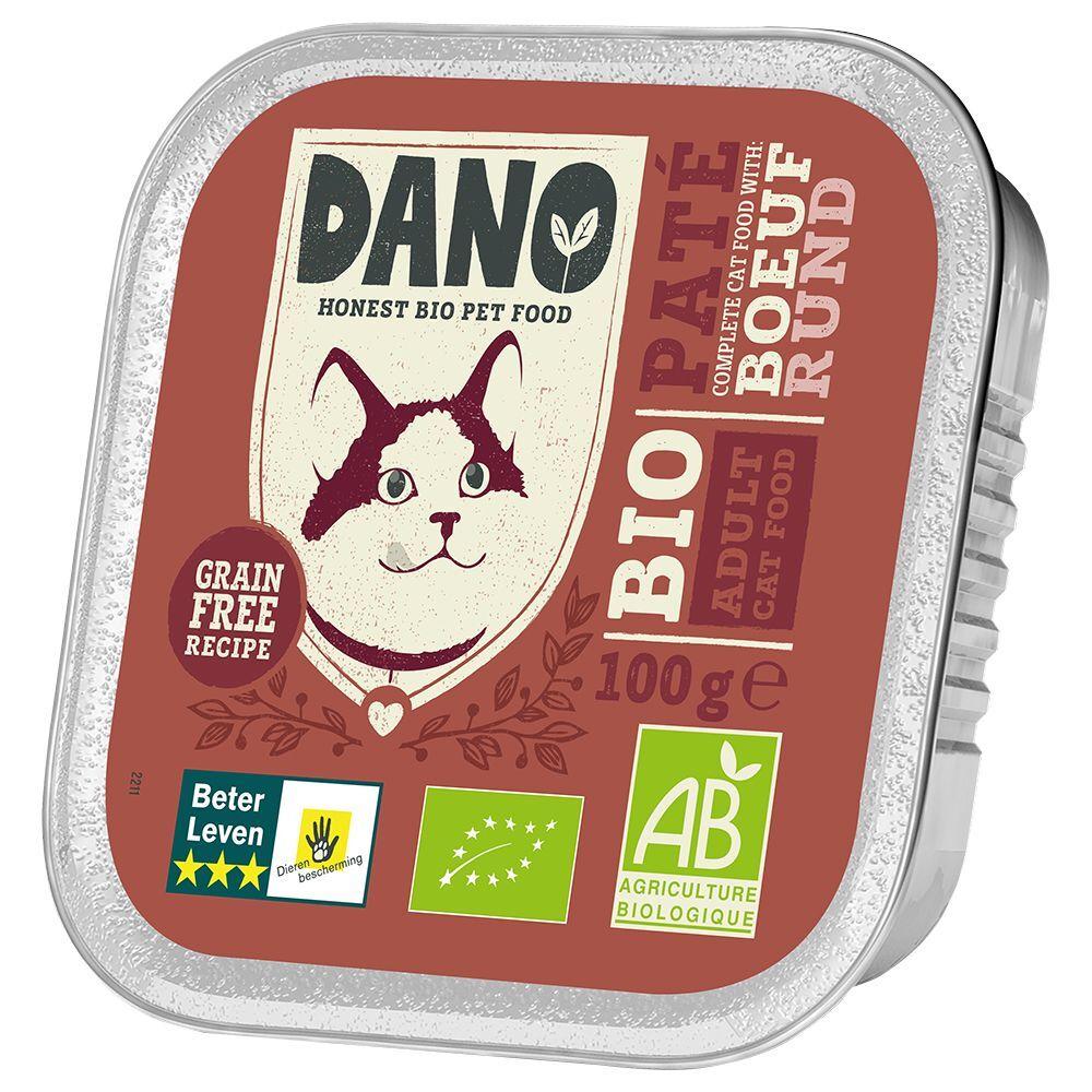 Dano 6x100g DANO Pâté BIO bœuf - Pâtée pour chat