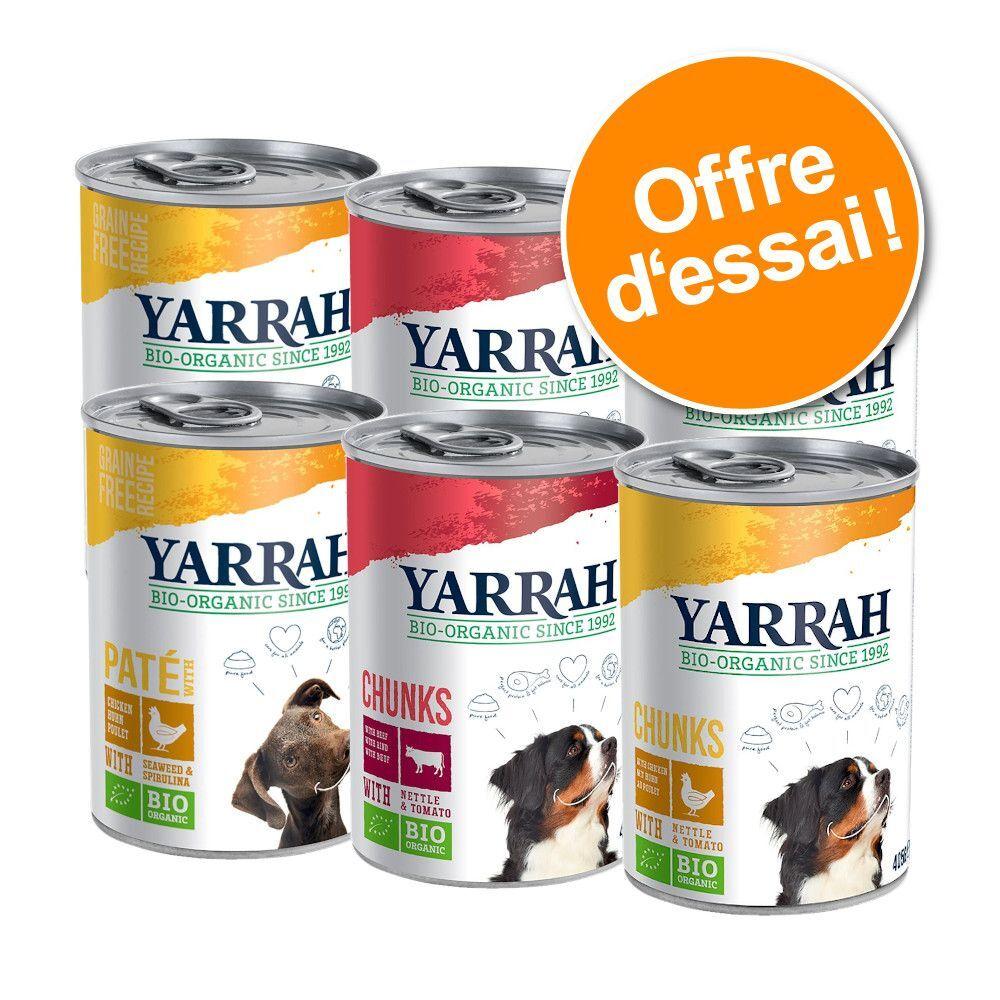 Yarrah 6x405g Yarrah Bio lot mixte (3 variétés) - Pâtée pour chien