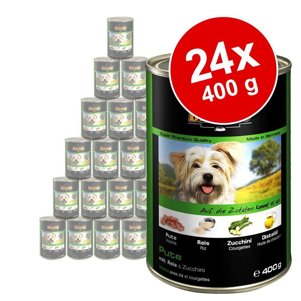 Belcando 24x400g poulet, canard, millet, carottes Super Premium Belcando - Nourriture pour chien