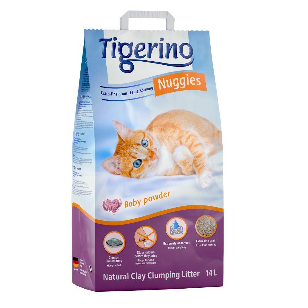 Tigerino 2x14L Litière senteur talc Tigerino Nuggies pour chat