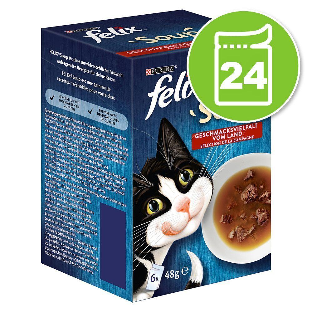 Felix 24x48g Felix Soup sélection de la campagne - Pâtée pour chat