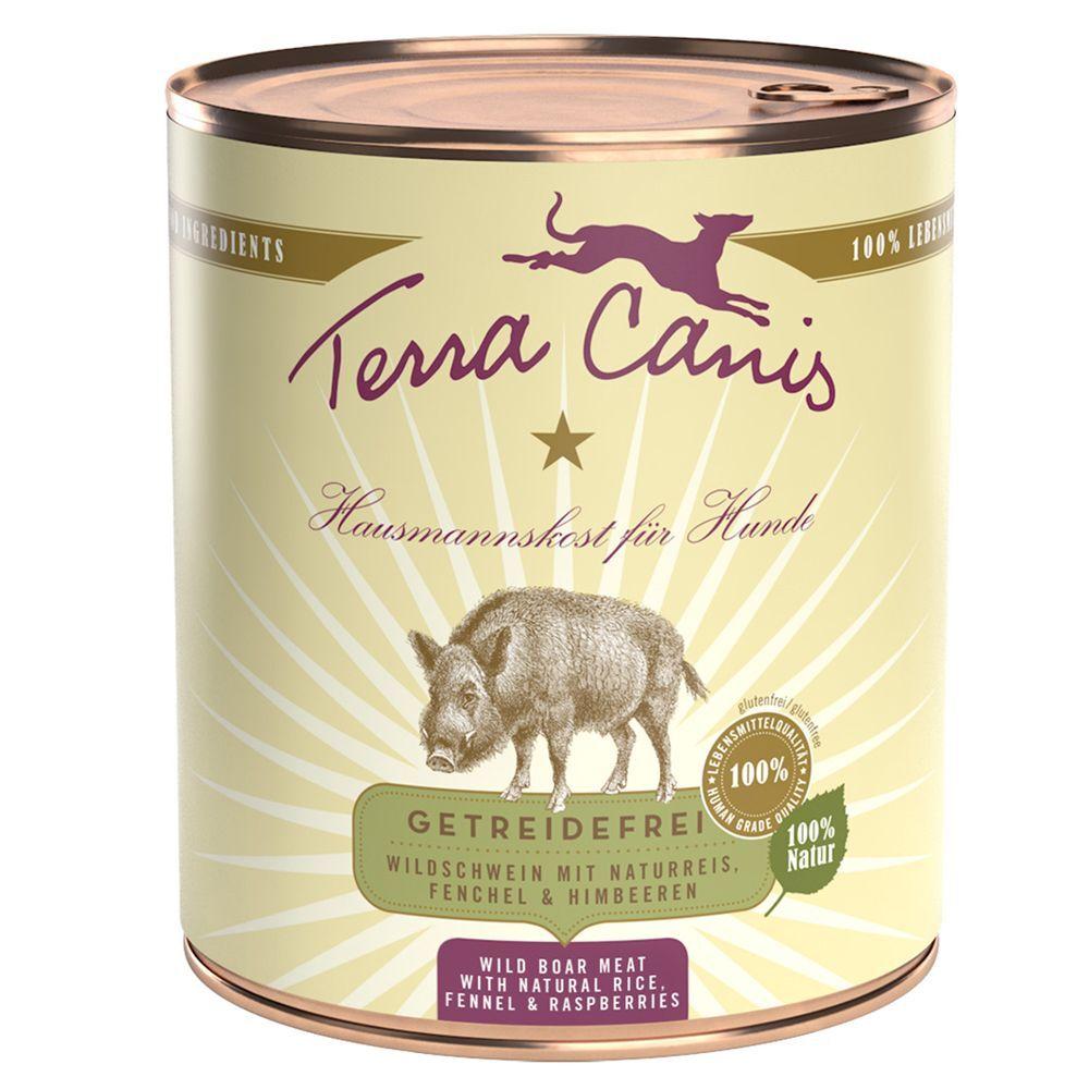 Terra Canis 6x800g Terra Canis veau, millet, concombre - Pâtée pour chien
