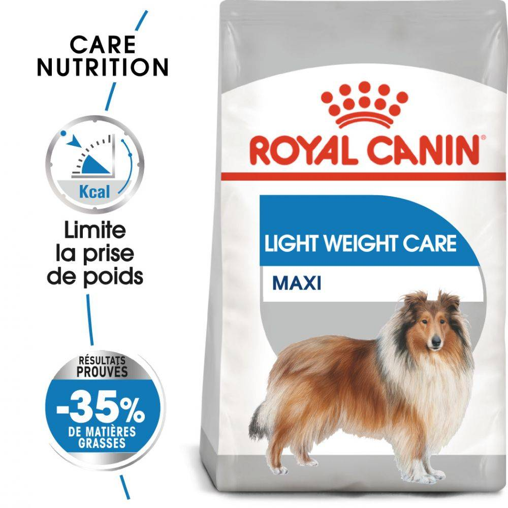 Royal Canin Care Nutrition Royal Canin Maxi Light Weight Care pour chien - en complément : sachets Light Weight Care 12 x 85 g