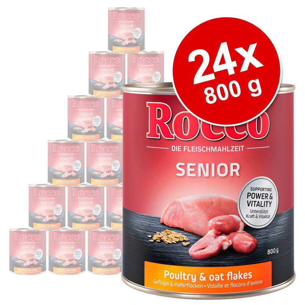 Rocco 24x800g Senior volaille, flocons d'avoine Rocco - Nourriture pour chien