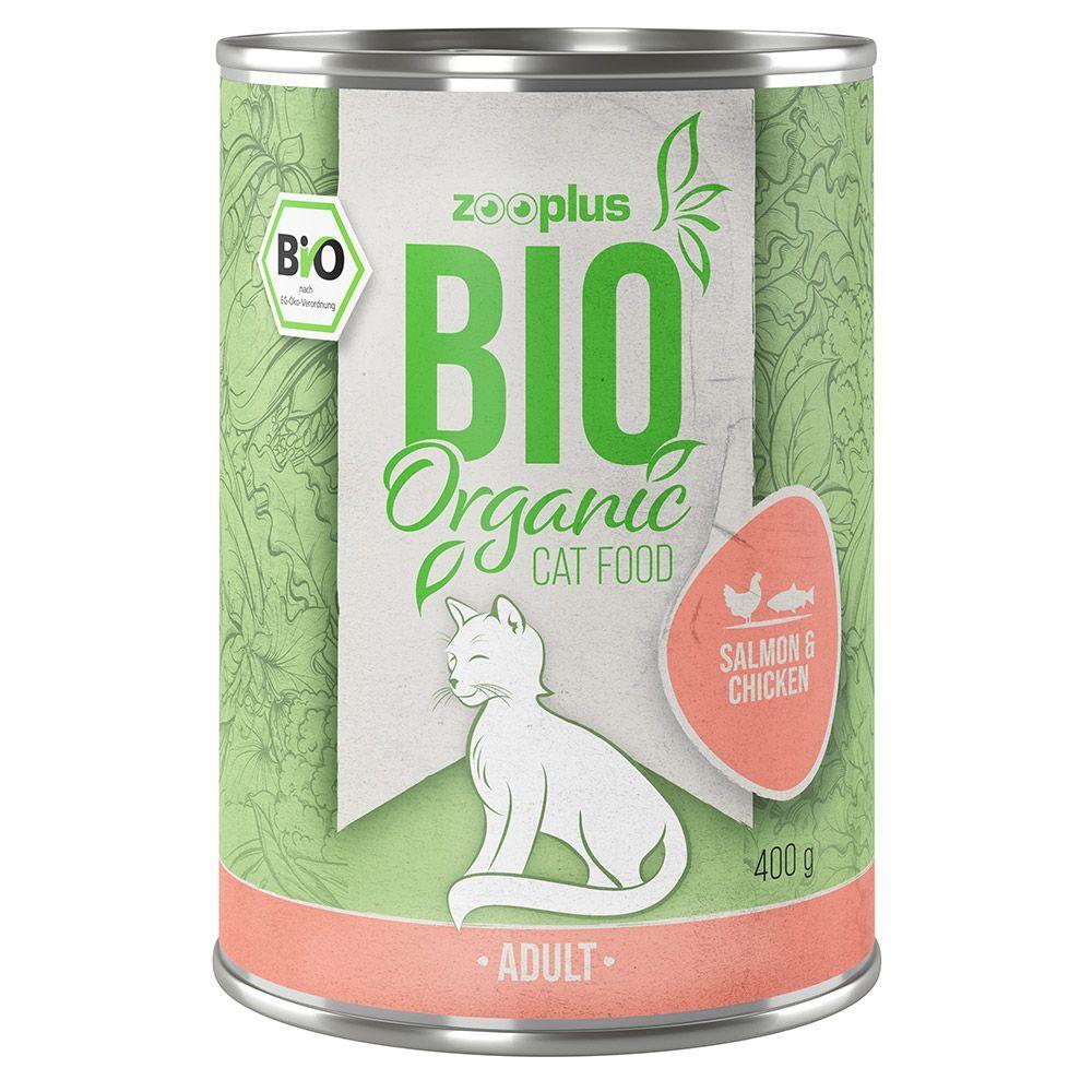 zooplus Bio saumon, poulet pour chat 6 x 400 g