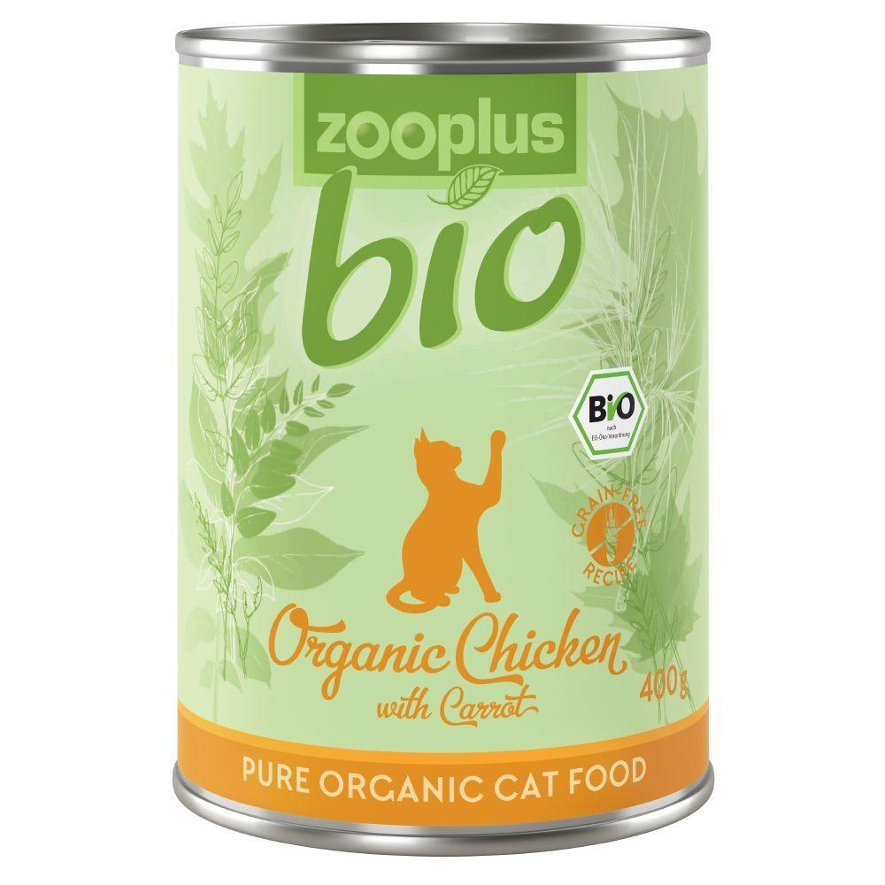 zooplus Bio 6x400g zooplus bio poulet, carottes - Pâtée pour chat