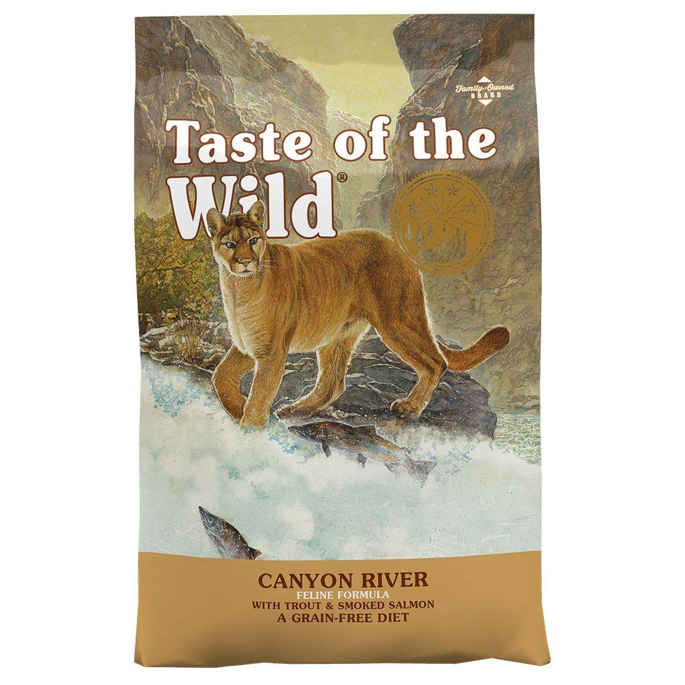 Taste of the Wild 2x6,6kg Canyon River Taste of the Wild - Croquettes pour chat