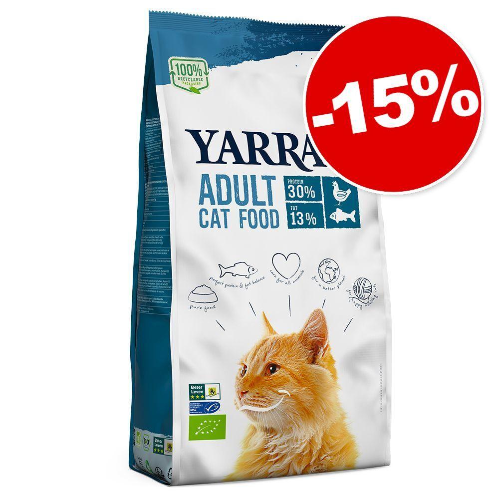 Yarrah Bio 2,4 kg pour chat : 15 % de remise ! - poulet bio, poisson sans céréales
