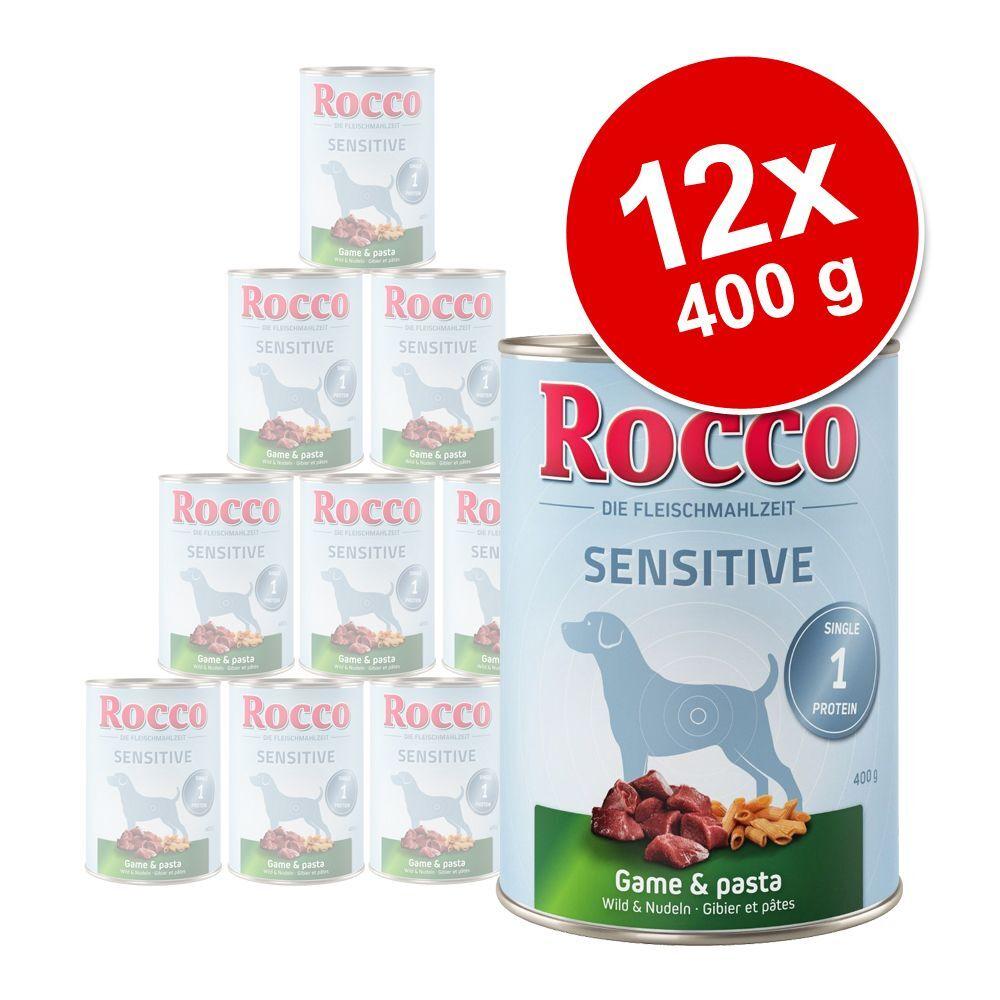 Rocco 12x400g Sensitive gibier, pâtes Rocco - Nourriture pour chien