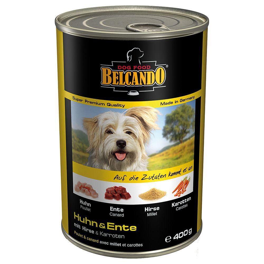 Belcando 6x400g poulet, canard, millet, carottes Belcando Nourriture pour chien