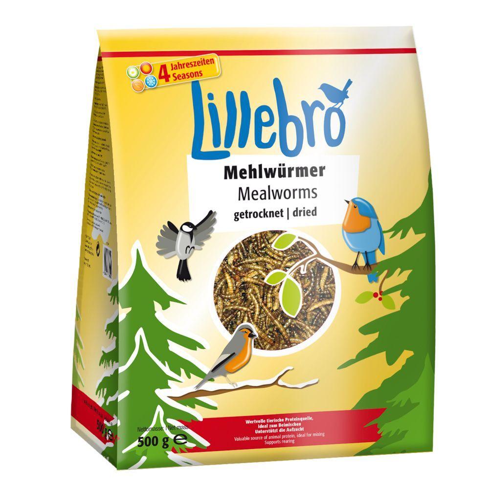 Lillebro 500g Vers de farine séchés pour oiseaux Lillebro - Alimentation pour oiseau